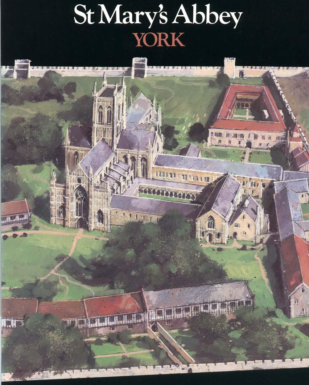 Cover of brochure for St. Mary's Abbey. Copyright Yorkshire Museums