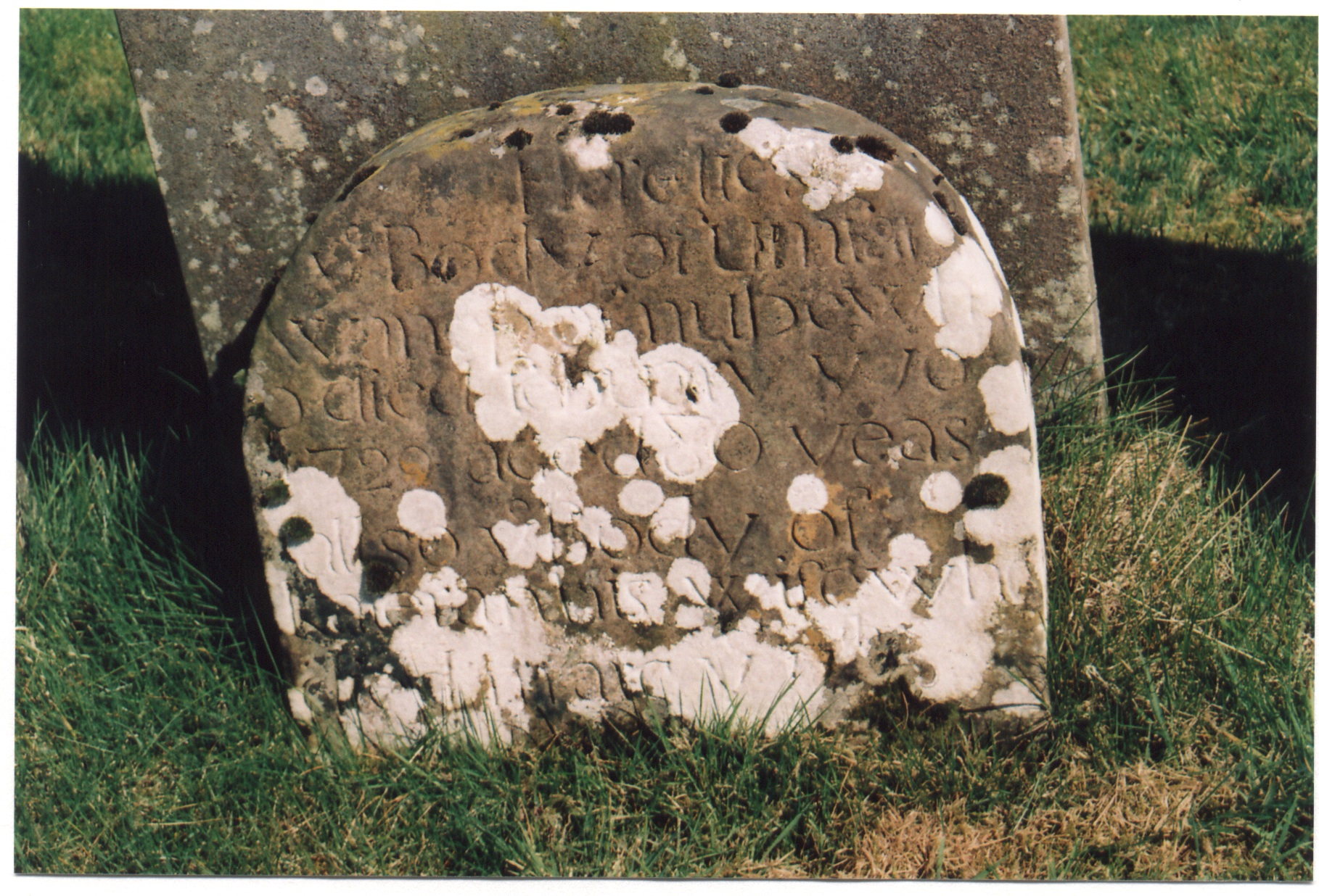 Gravestone of Humphrey Wannop, St. Kentigern's , Irthington
